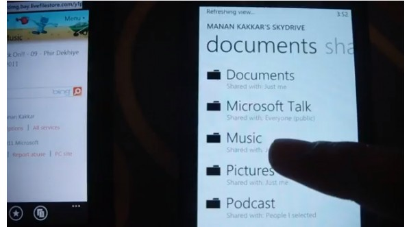 Microsoft, Windows Phone 7.5, Mango, SkyDrive, облака