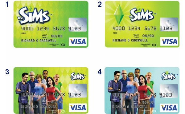 The Sims, VISA, credit cards, кредитные карты