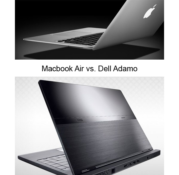 Dell, Apple, Adamo, MacBook Air, ultraportable, ультратонкий, ноутбук