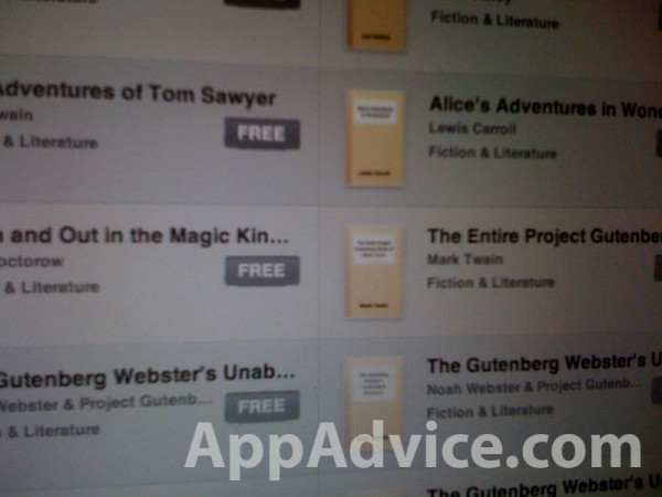 iPad, iBooks, iBookStore
