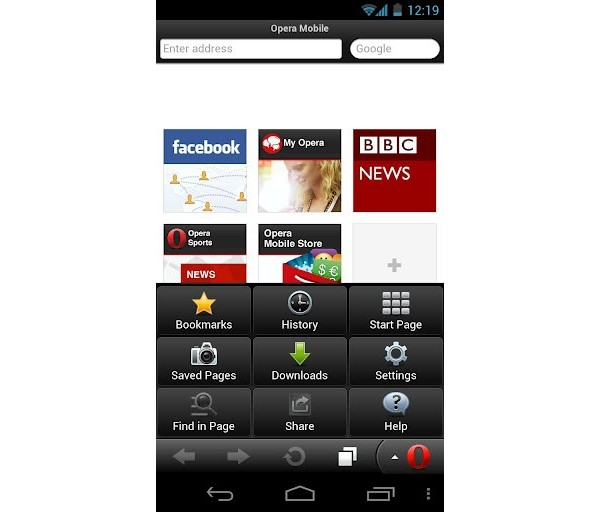 Opera Mobile 12, Android, Symbian