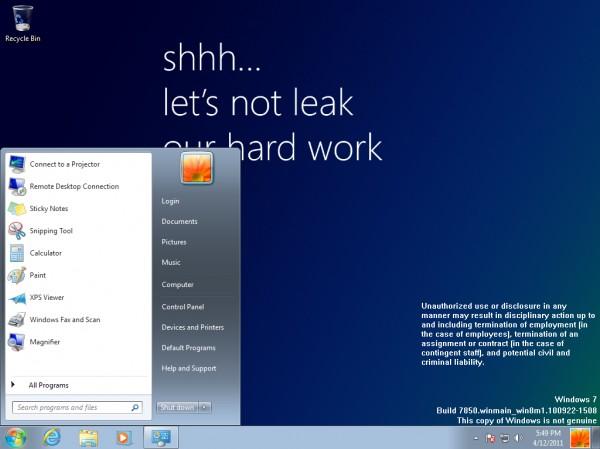 Microsoft044; Windows 8044; Milestone 1