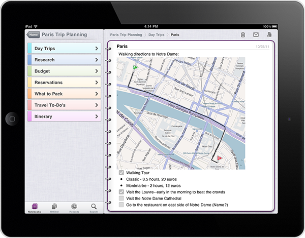 Microsoft выпустила OneNote для iPad