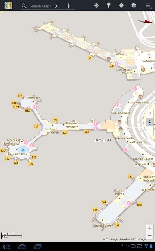 В Google Maps 6.0 появилась навигация внутри зданий