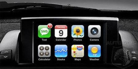 iPhone на приборной панели BMW