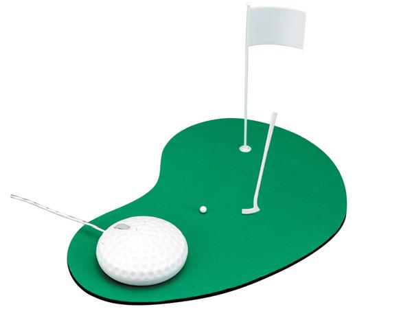 Да, идея для компьютерной мышки и её коврика и вправду...  Это, ух, целая площадка для гольфа, а сам мяч для гольфа...