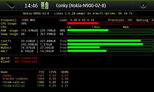 Nokia N900 разогнана на 1 ГГц