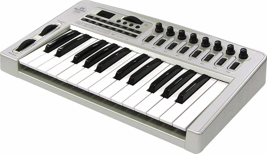 EgoSys ESI KeyControl 25 - 2-октавная клавиатура с полноразмерными клавишами и полувзвешенной механикой.