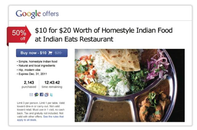 Google готовит Google Offers — клон Groupon