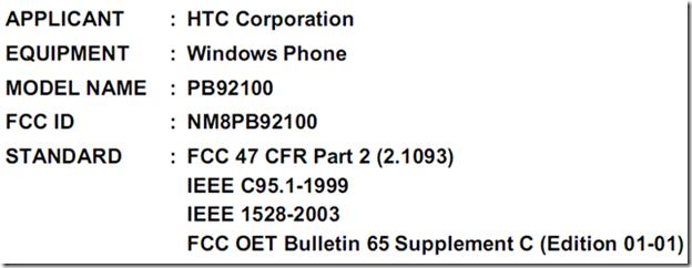 Первый телефон на Windows Phone 7 от HTC, возможно, получил одобрение ФКС