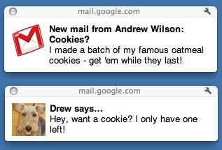 В Gmail появились системные уведомления о новых письмах и чатах