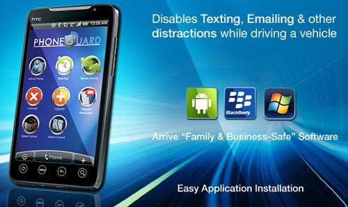 Программа PhoneGuard блокирует клавиатуру смартфона при движении автомобиля