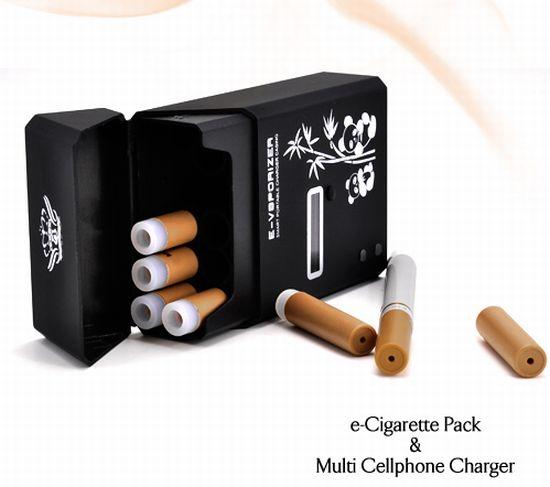 """...никотиновая """" зарядка для телефона.  Пачка электронных сигарет..."""