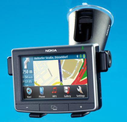 Первый полноценный GPS-навигатор от Nokia - N500